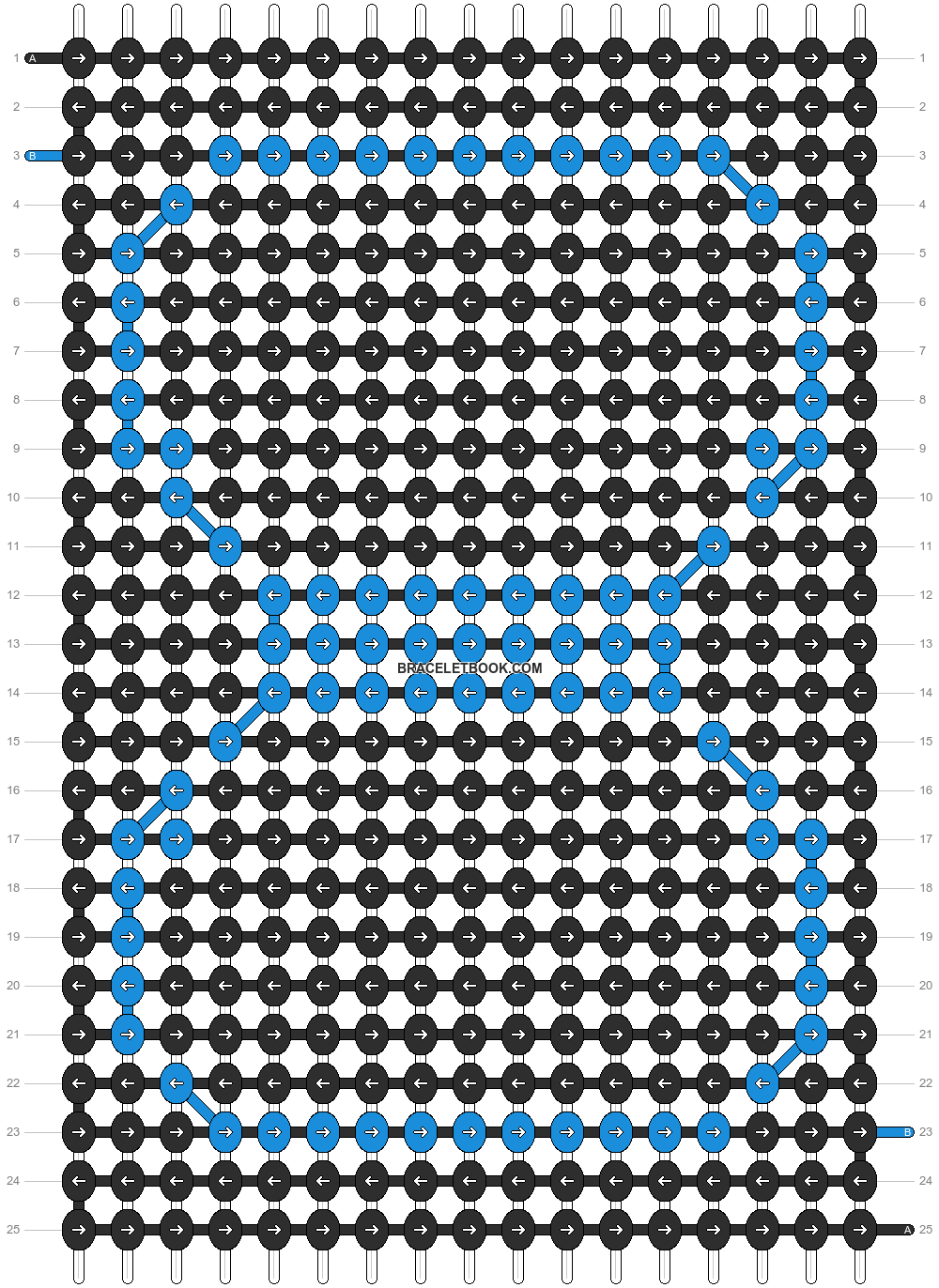 Alpha pattern #7300 pattern