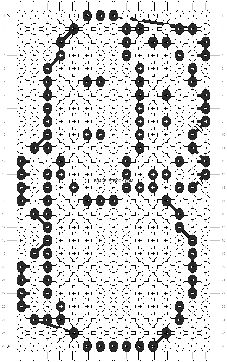 Alpha pattern #7346 pattern