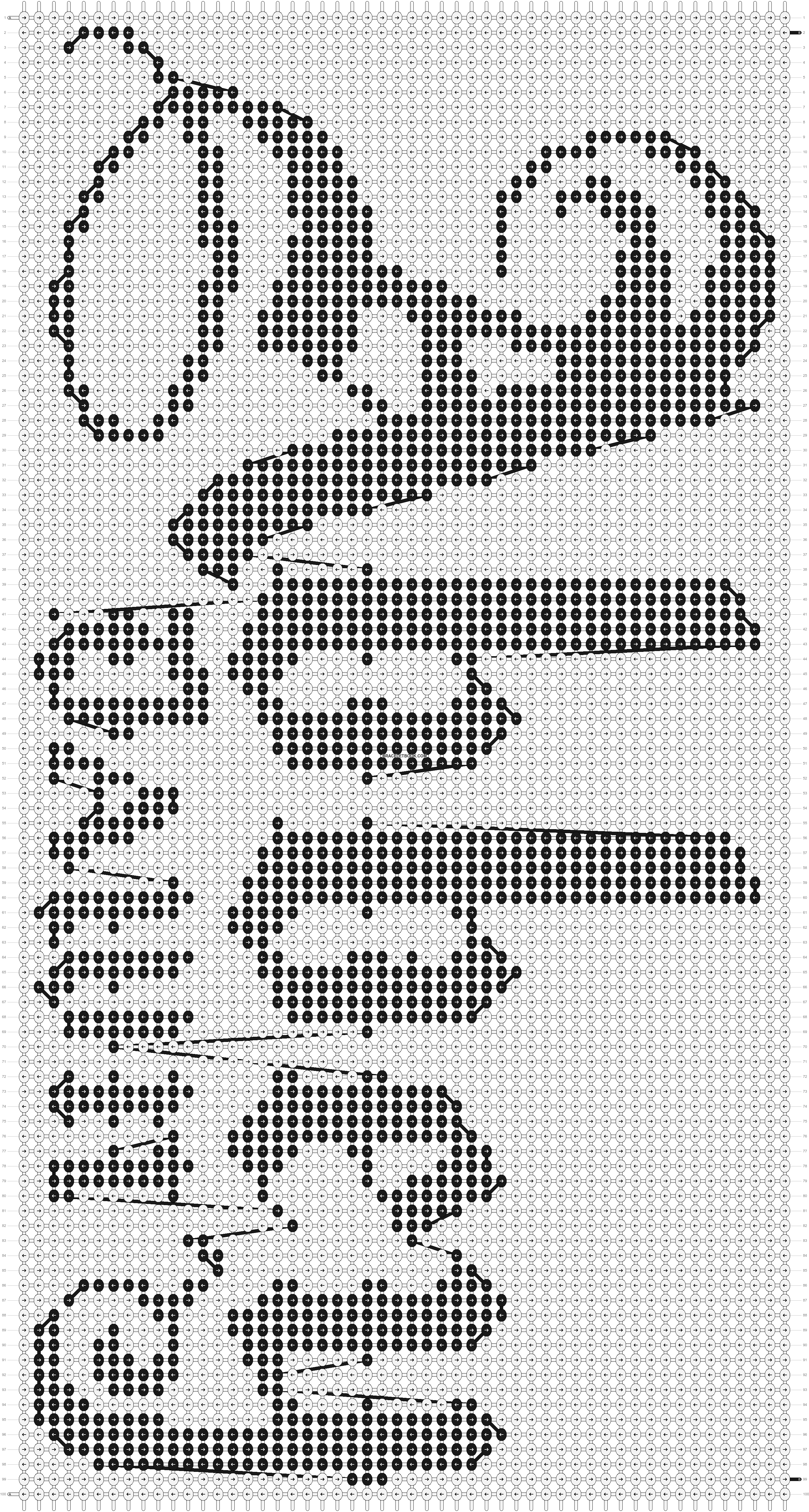 Alpha pattern #7355 pattern
