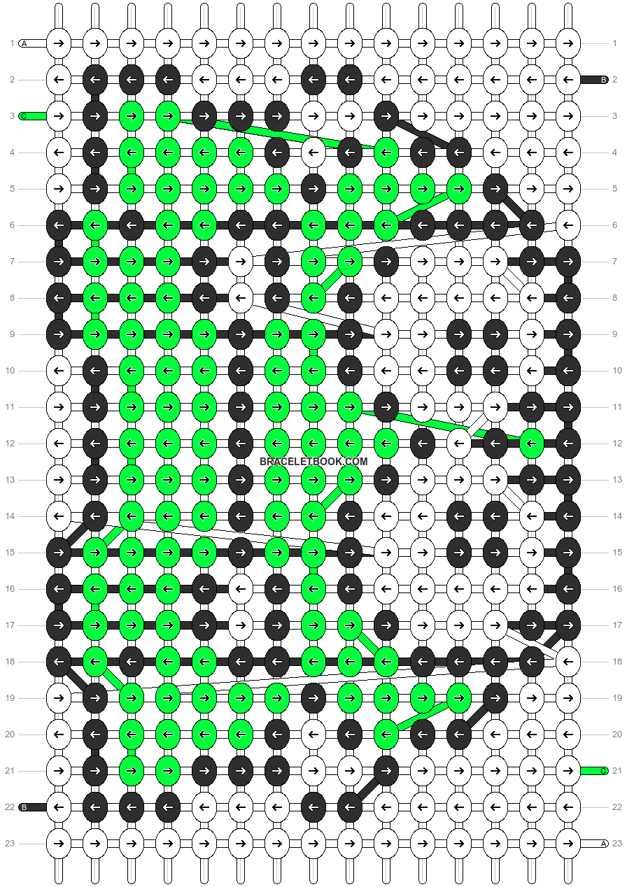 Alpha pattern #7372 pattern
