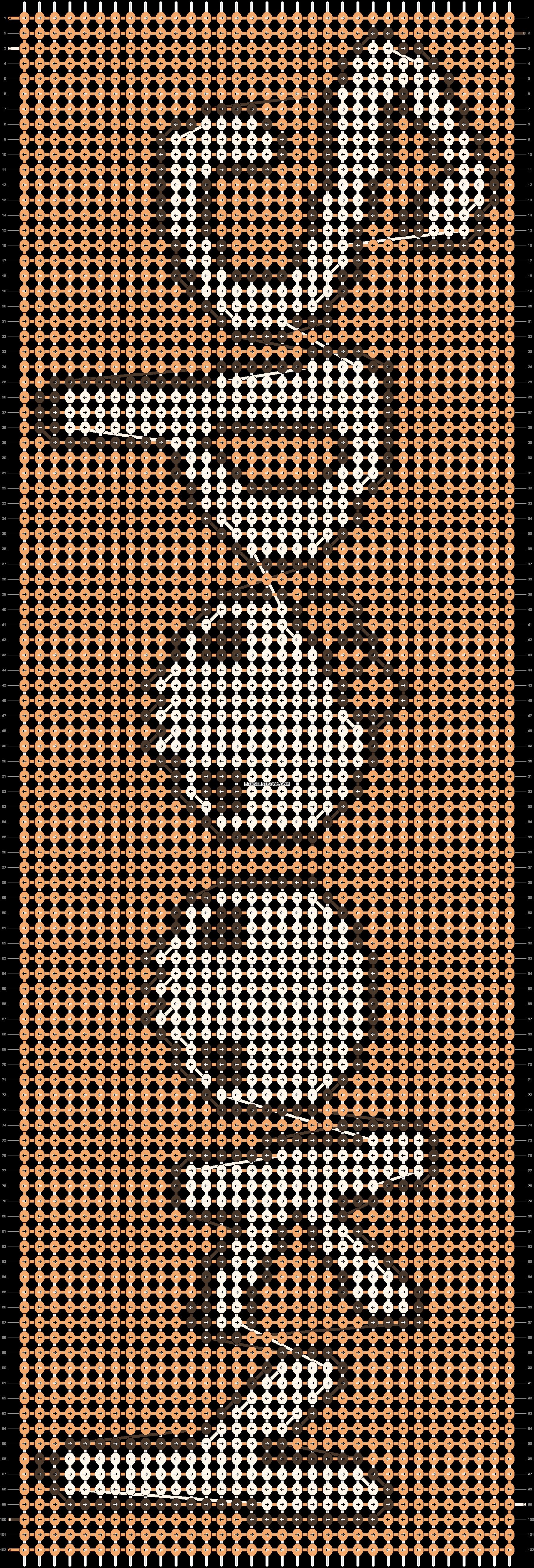 Alpha pattern #7400 pattern