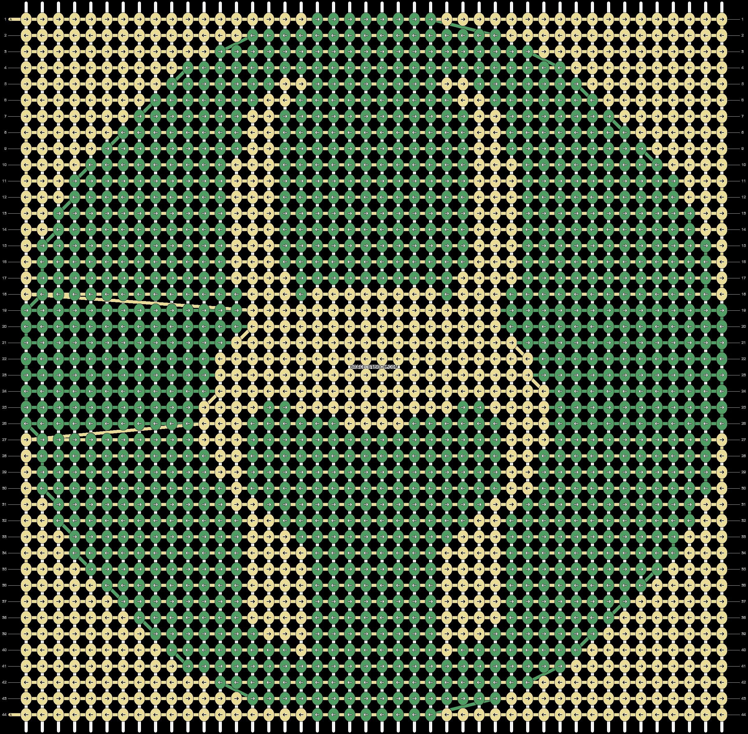 Alpha pattern #7407 pattern