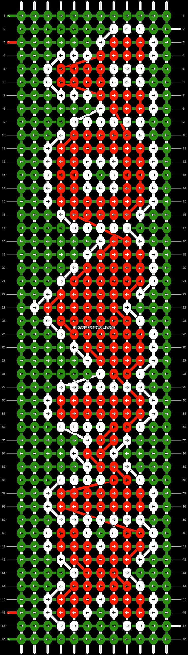 Alpha pattern #7411 pattern