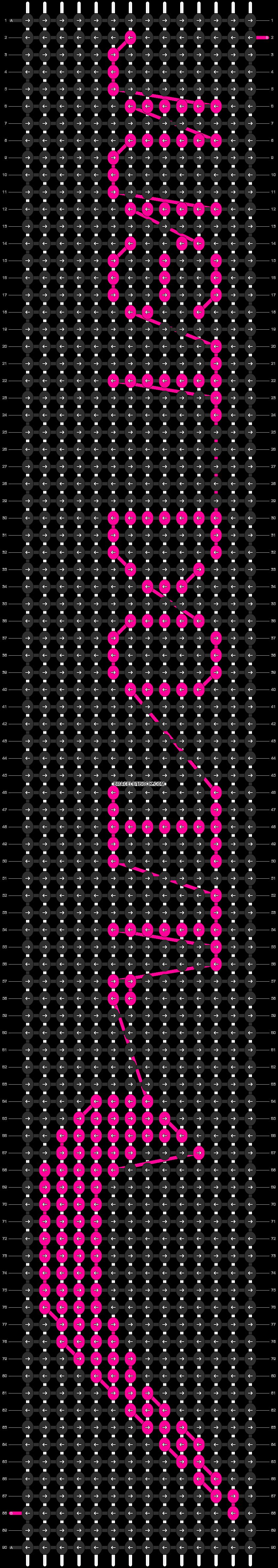 Alpha pattern #7412 pattern