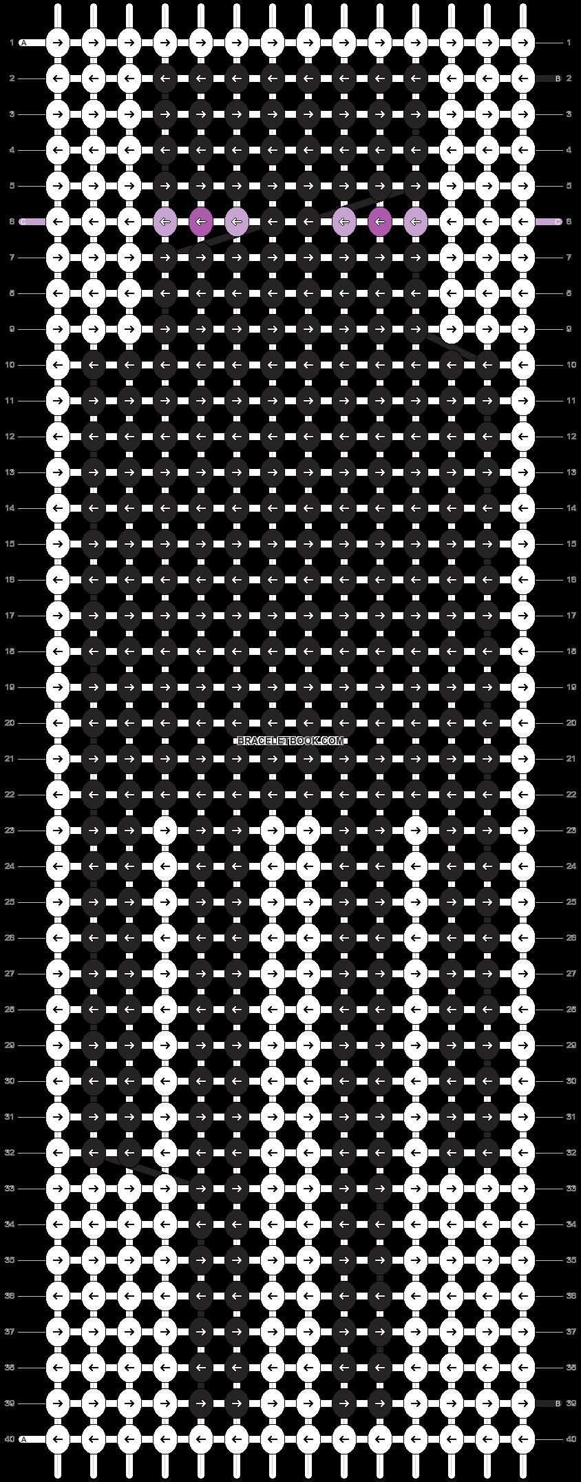 Alpha pattern #7451 pattern