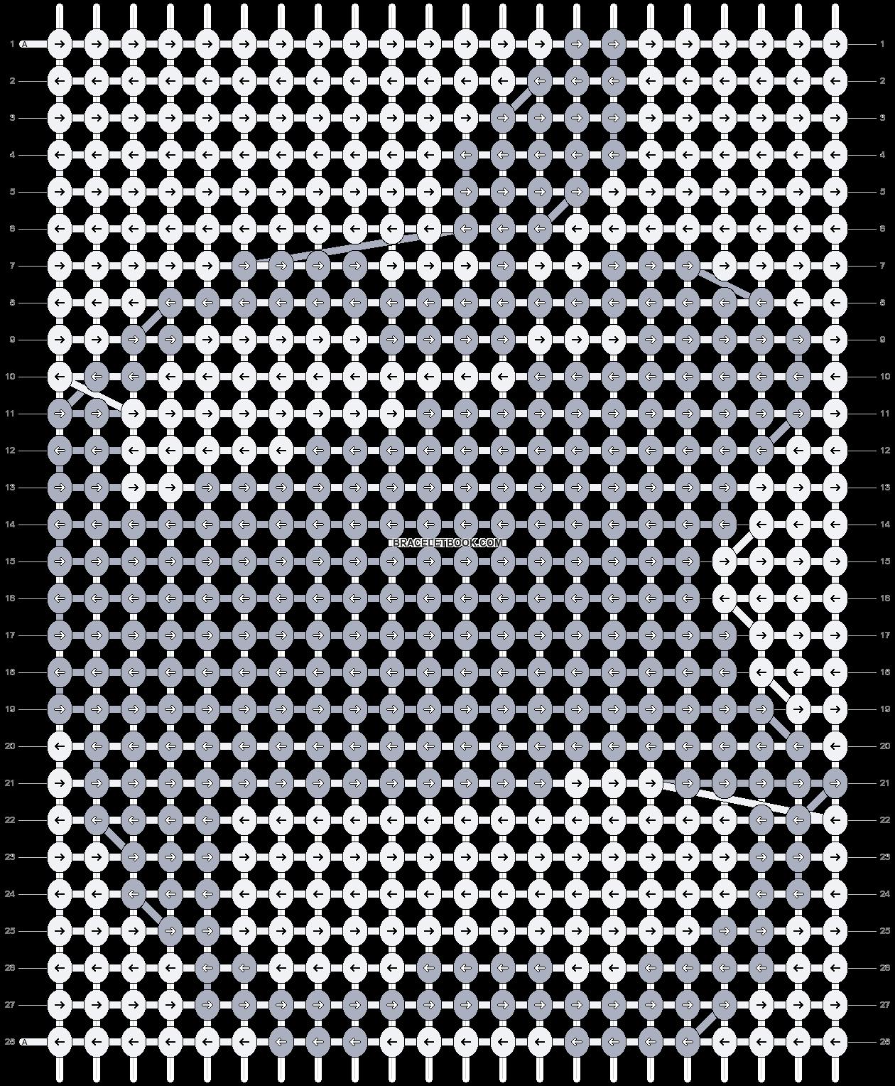 Alpha pattern #7480 pattern