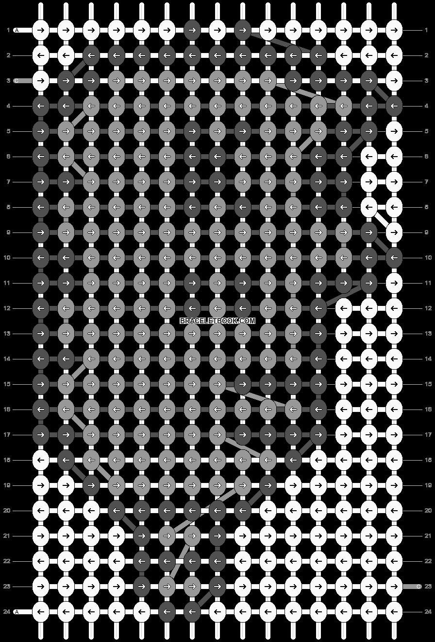 Alpha pattern #7498 pattern