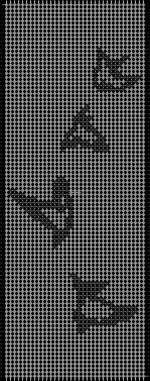 Alpha pattern #7516 pattern