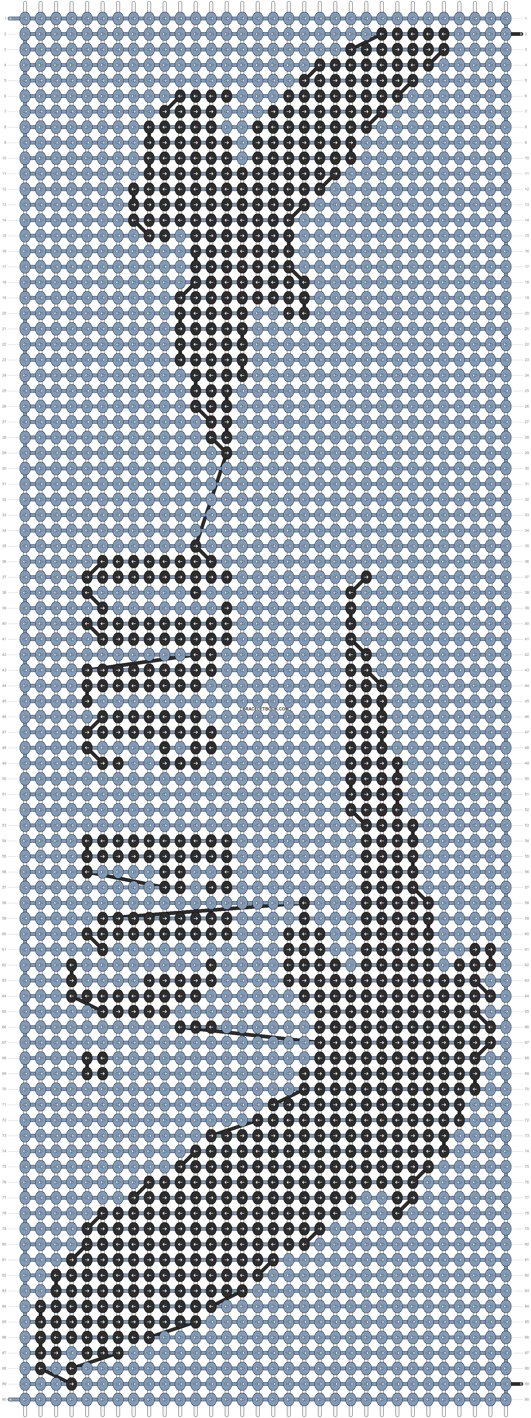Alpha pattern #7521 pattern