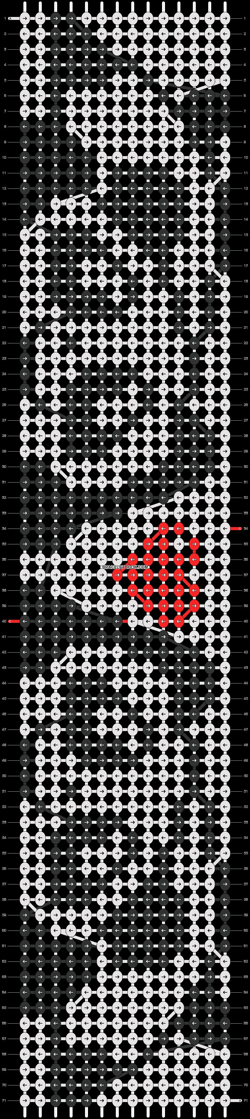 Alpha pattern #7535 pattern