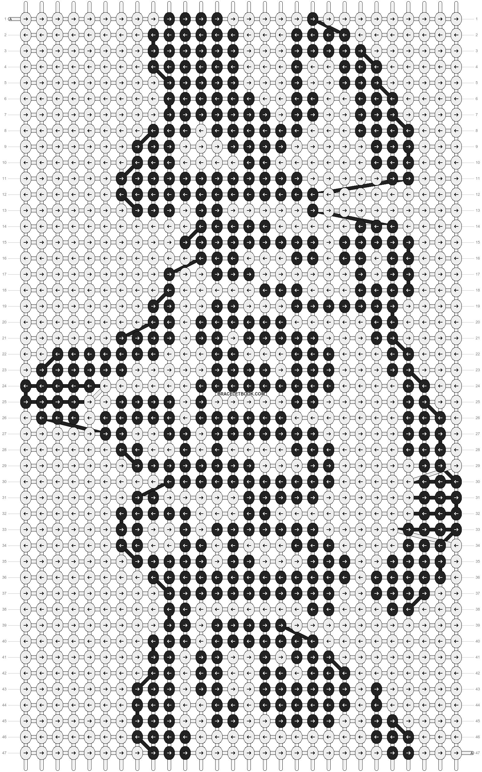 Alpha pattern #7542 pattern
