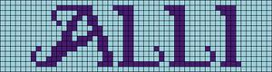 Alpha pattern #7580