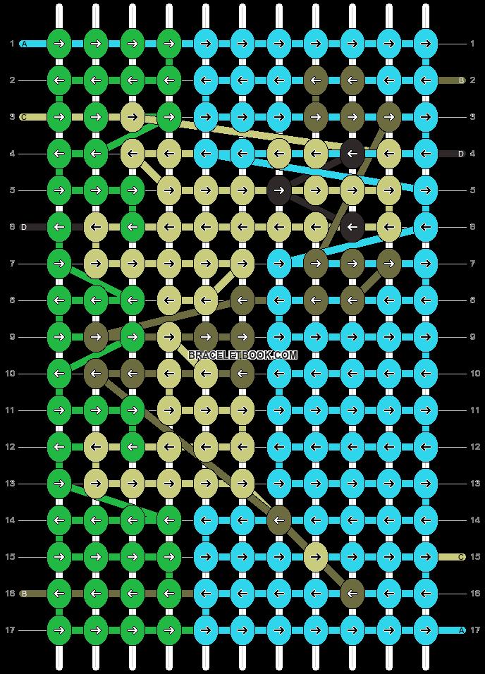 Alpha pattern #7609 pattern