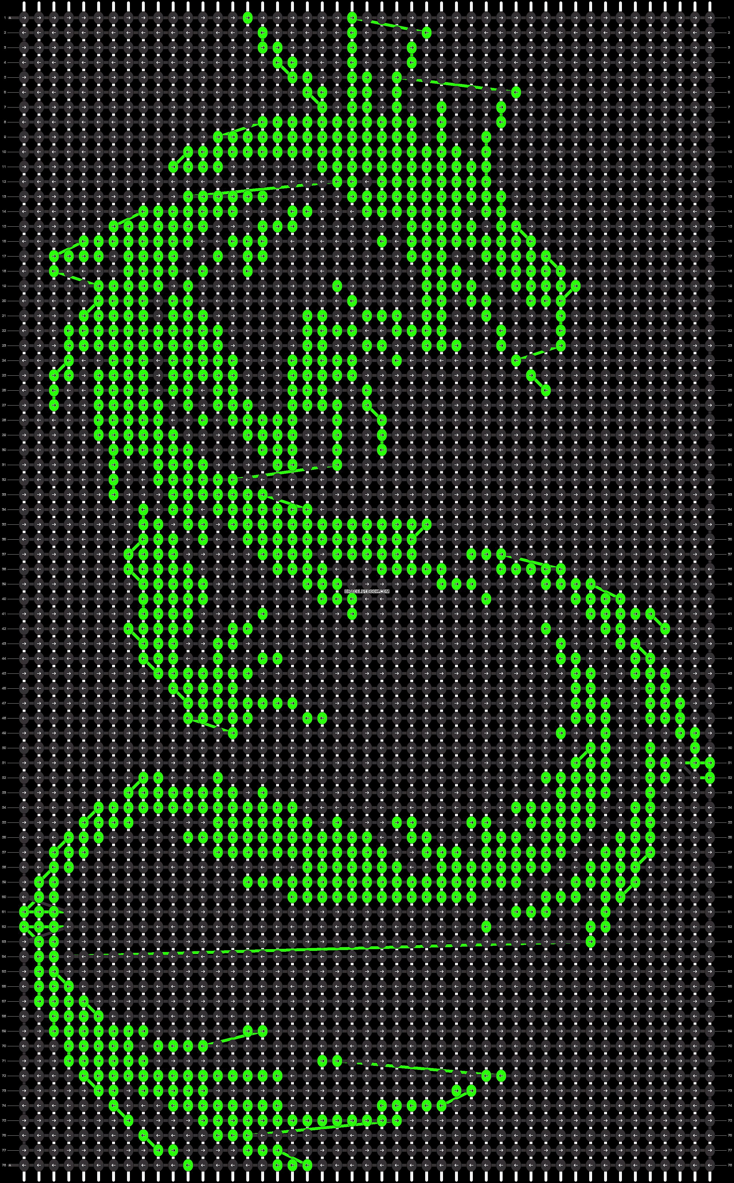 Alpha pattern #7621 pattern