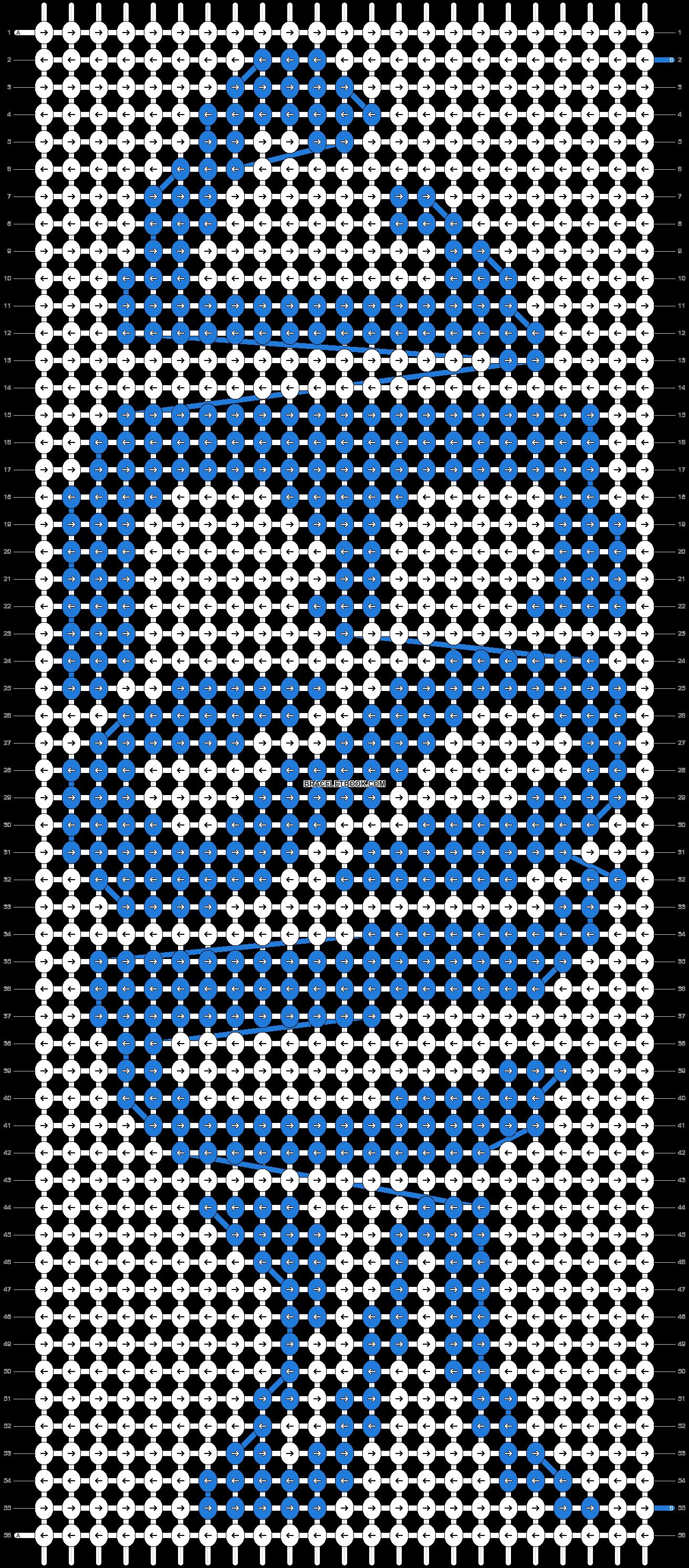 Alpha pattern #7624 pattern