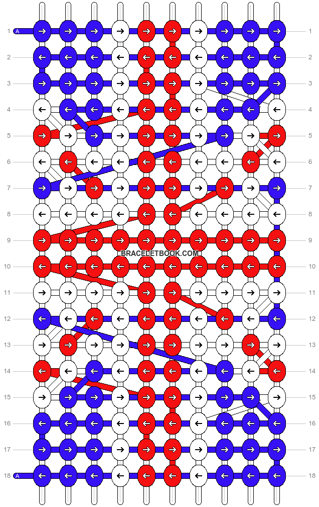 Alpha pattern #7628 pattern