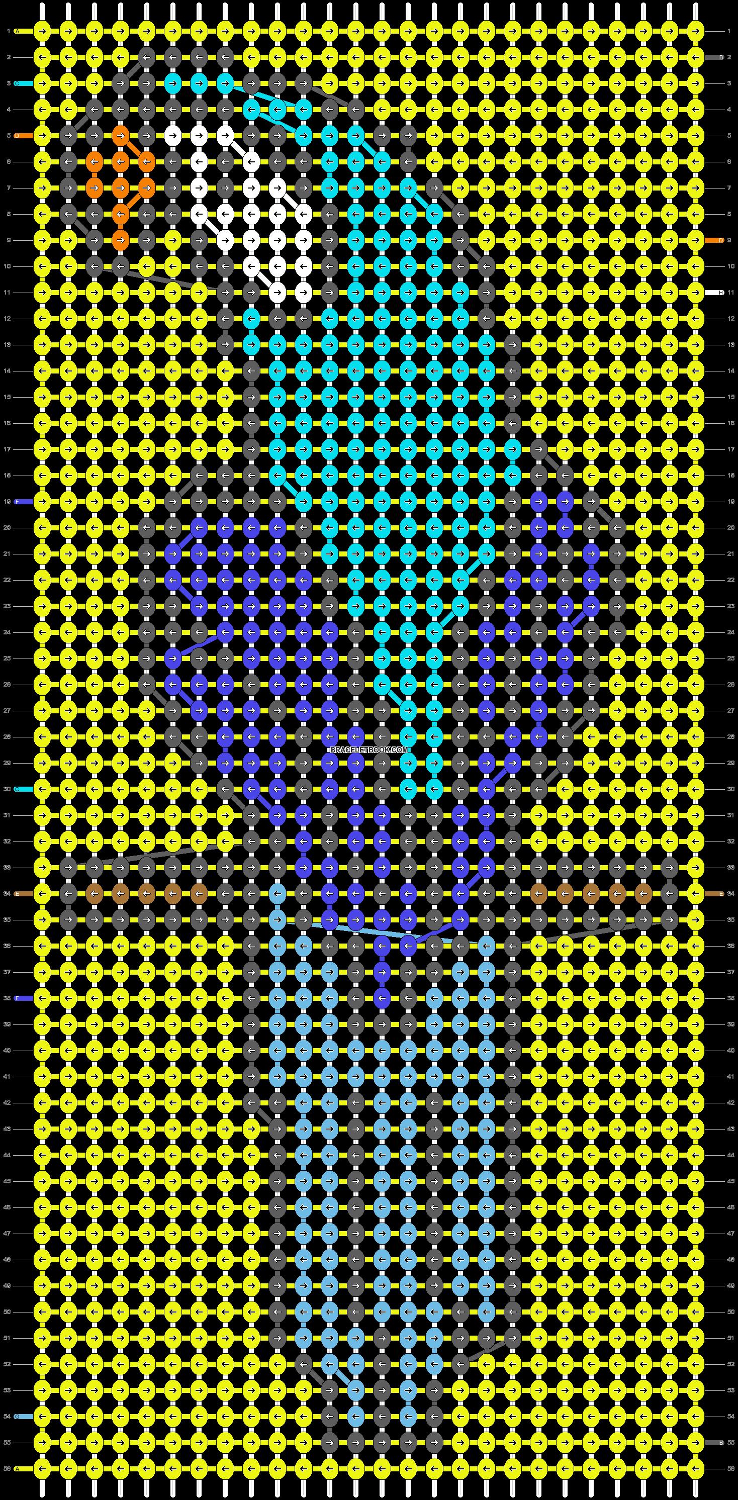 Alpha pattern #7694 pattern