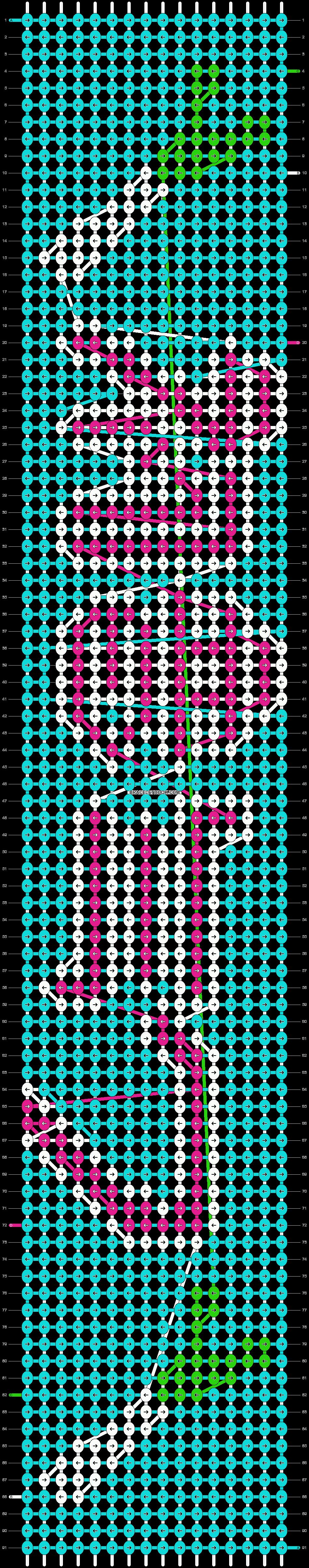 Alpha pattern #7722 pattern