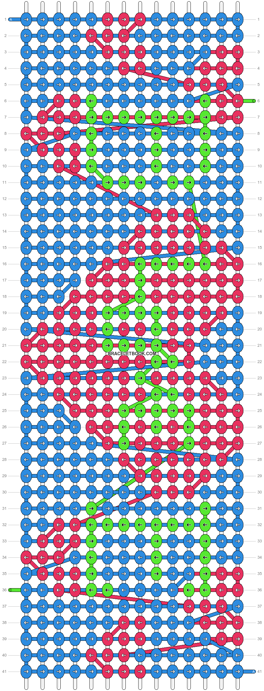 Alpha pattern #7740 pattern