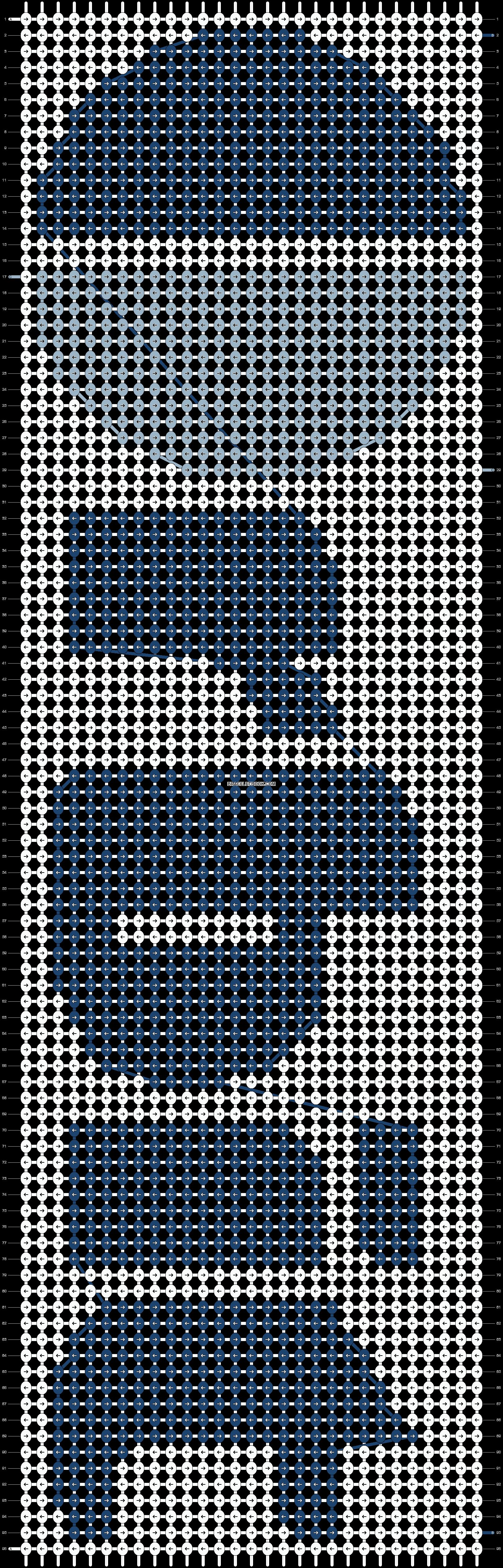 Alpha pattern #7748 pattern