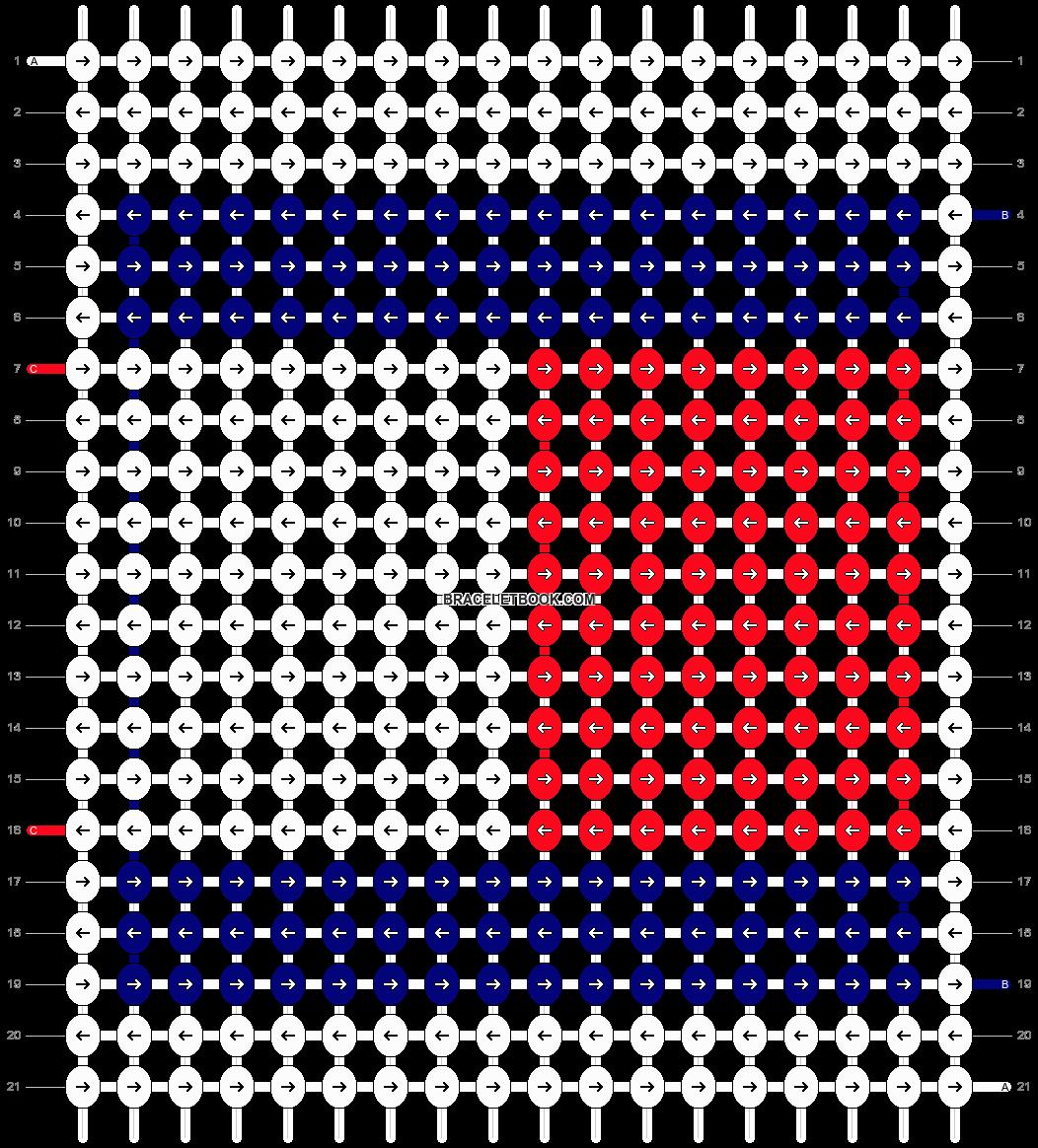 Alpha pattern #7874 pattern
