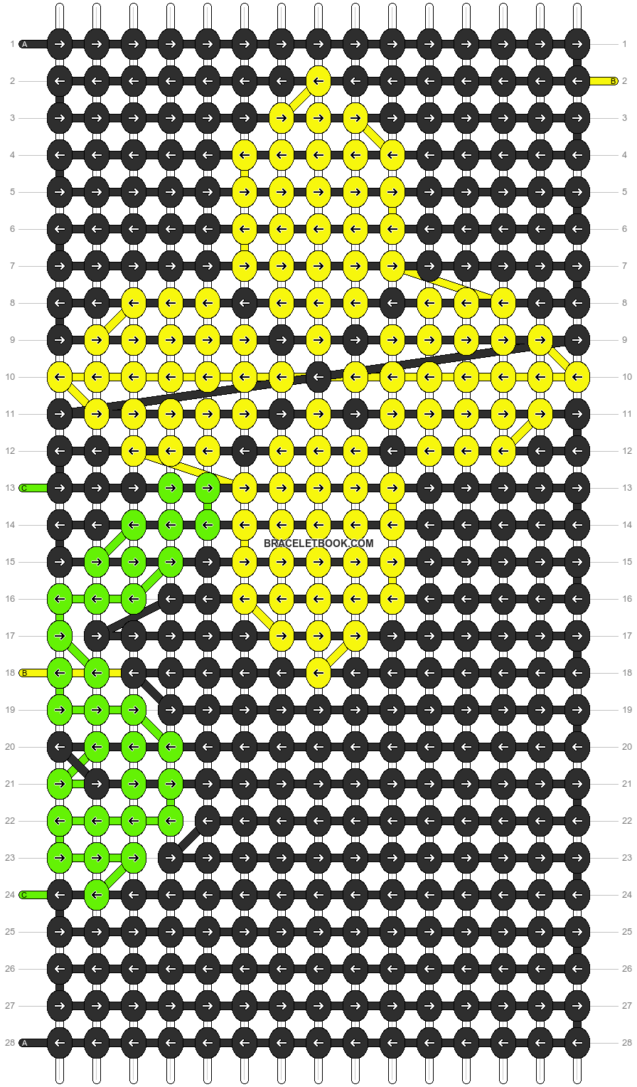Alpha pattern #8003 pattern