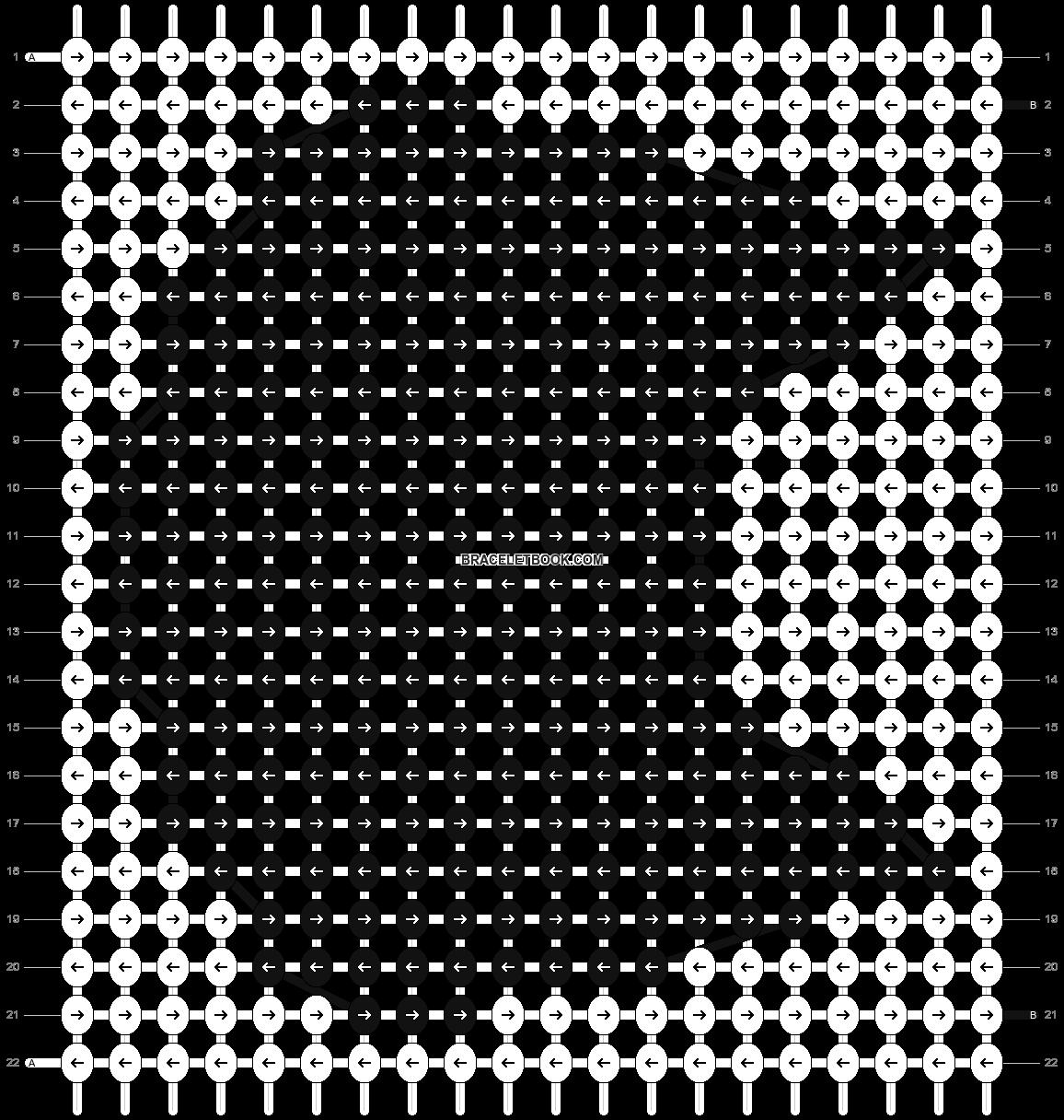 Alpha pattern #8018 pattern