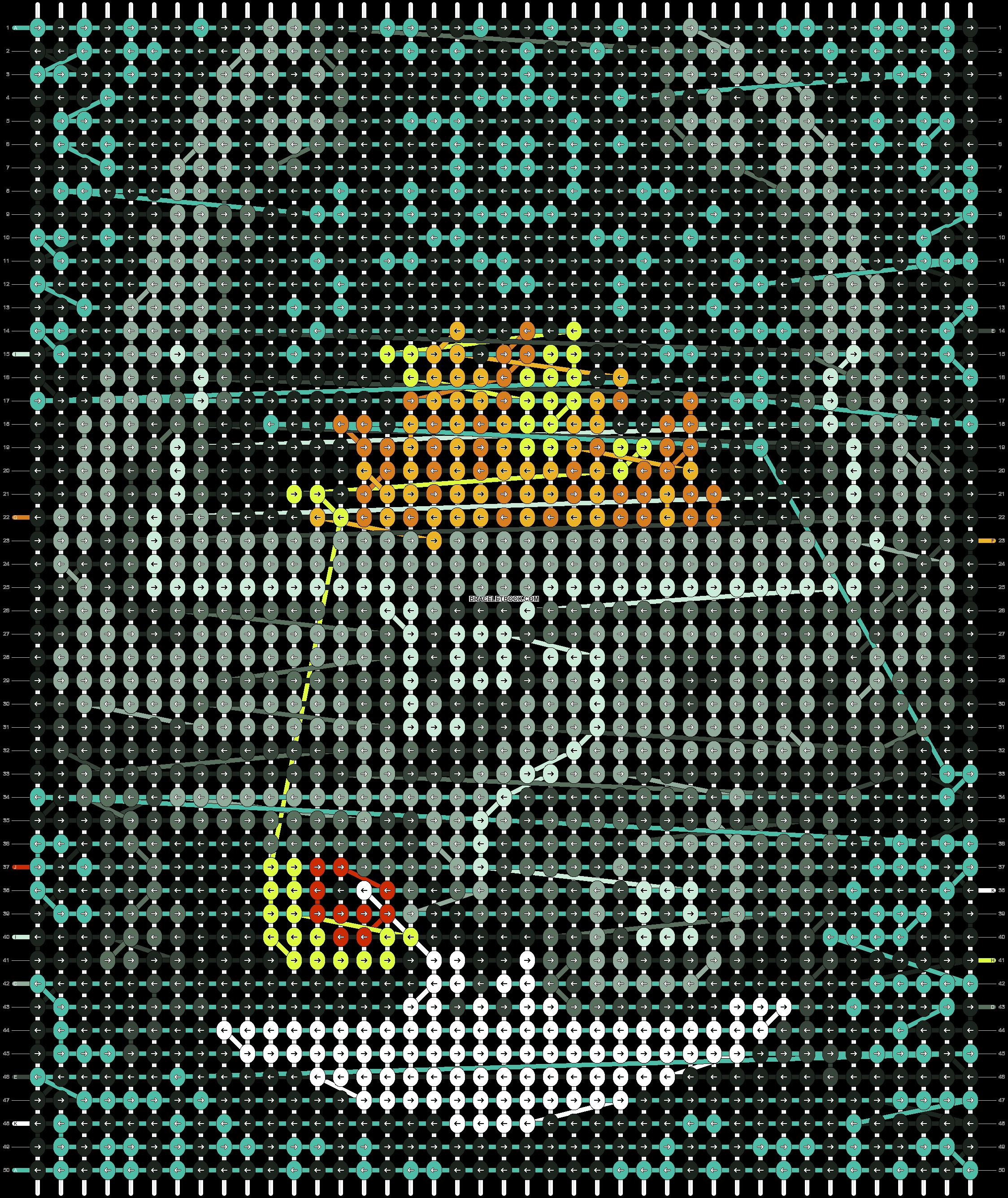 Alpha pattern #8021 pattern