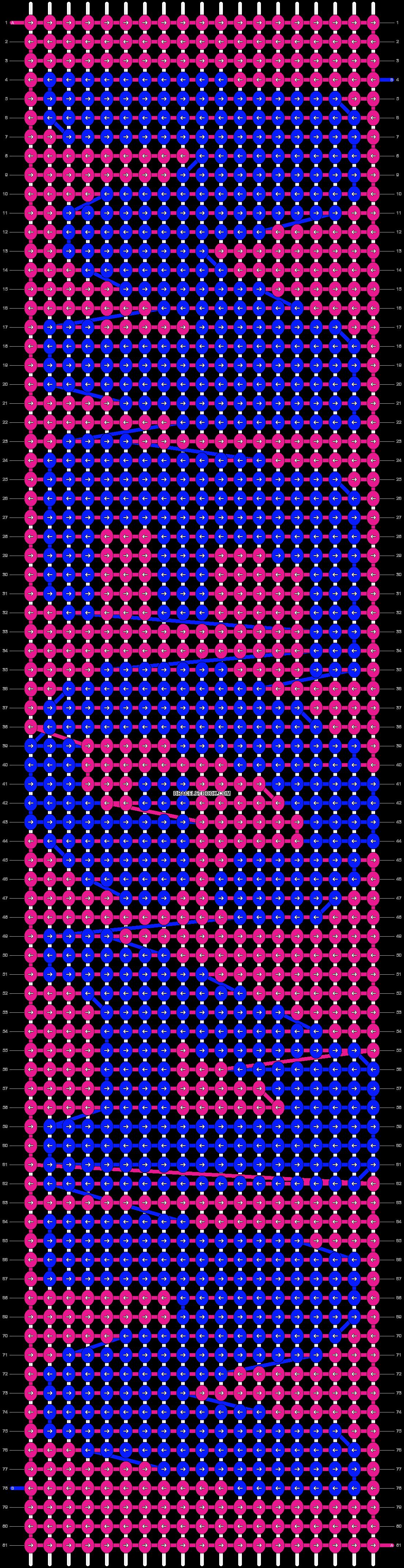 Alpha pattern #8026 pattern