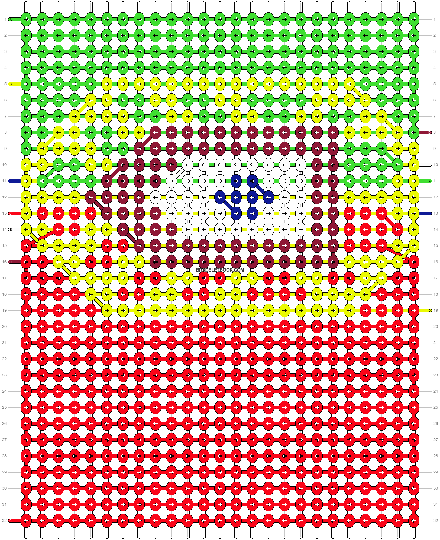 Alpha pattern #8047 pattern