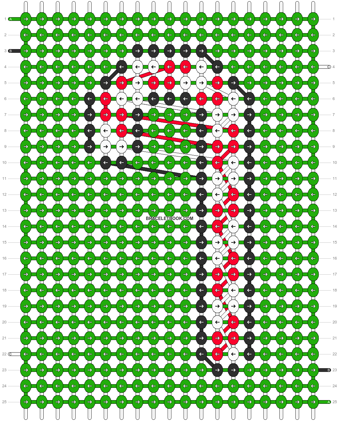 Alpha pattern #8060 pattern