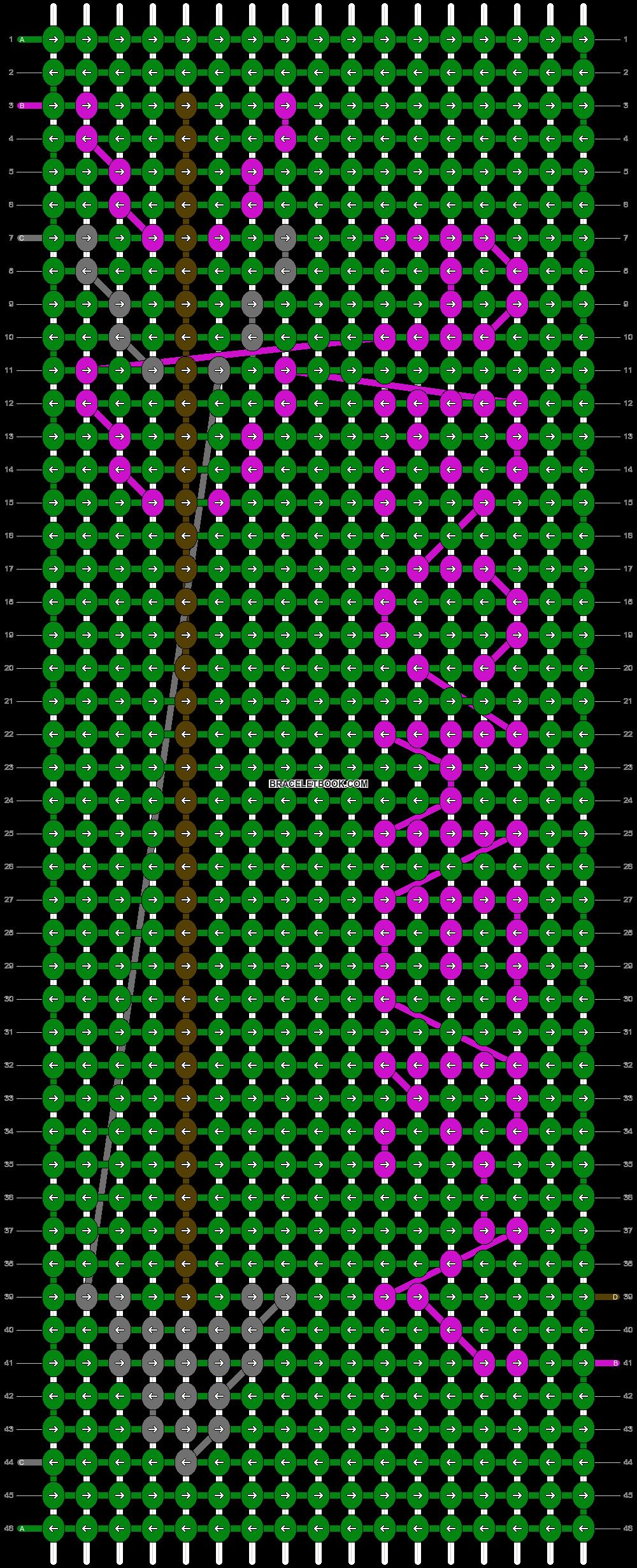 Alpha pattern #8061 pattern