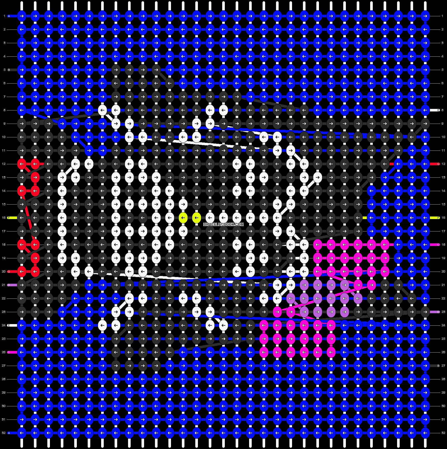 Alpha pattern #8070 pattern