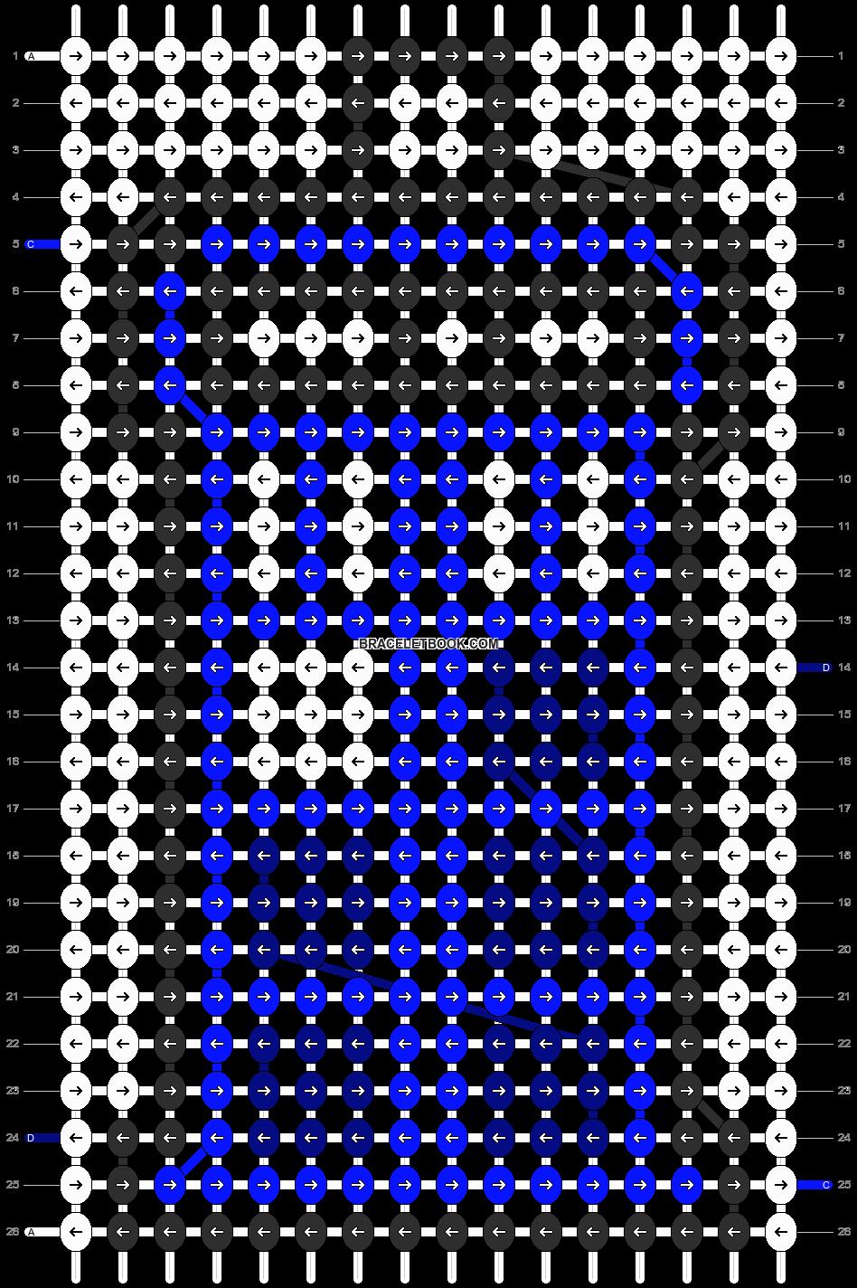 Alpha pattern #8074 pattern
