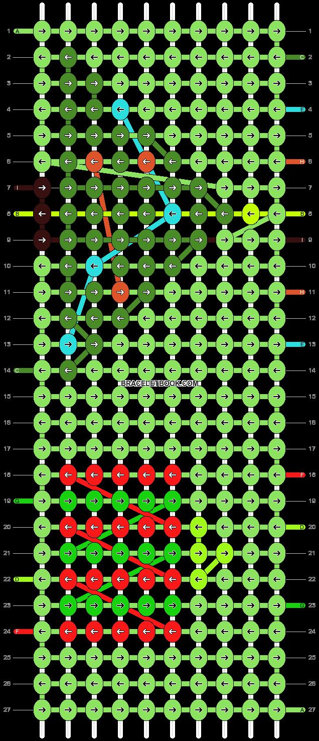 Alpha pattern #8076 pattern
