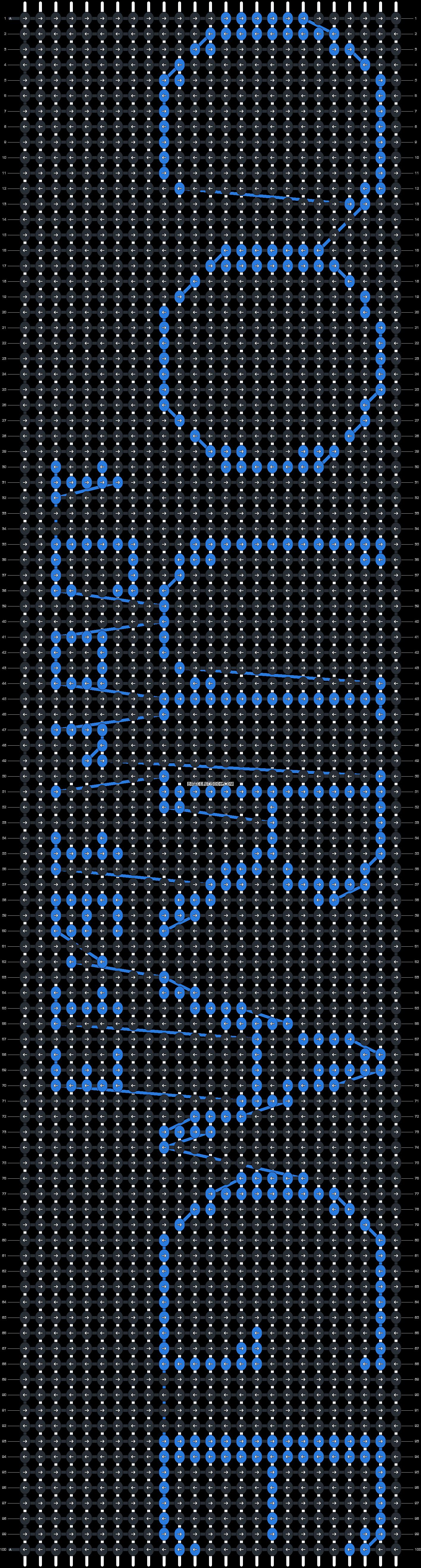 Alpha pattern #8106 pattern