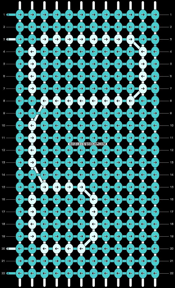 Alpha pattern #8107 pattern