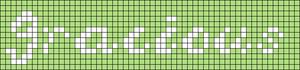 Alpha pattern #8117