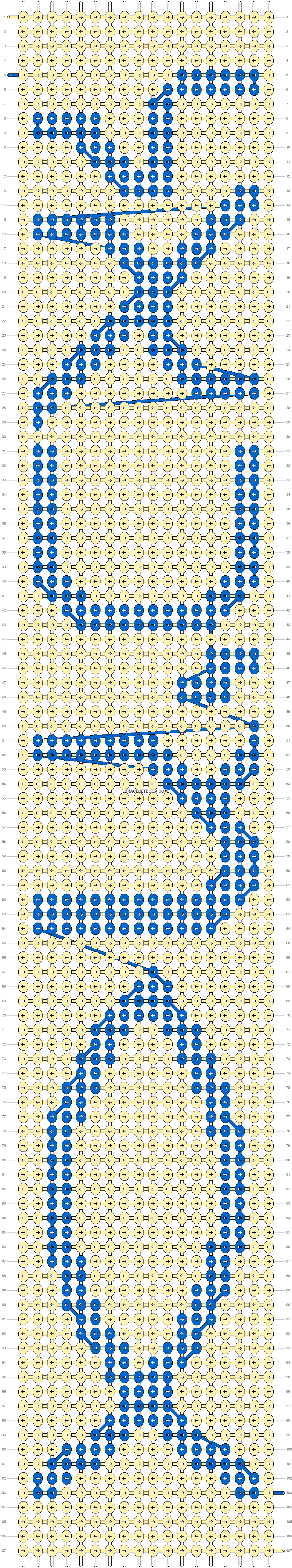 Alpha pattern #8119 pattern