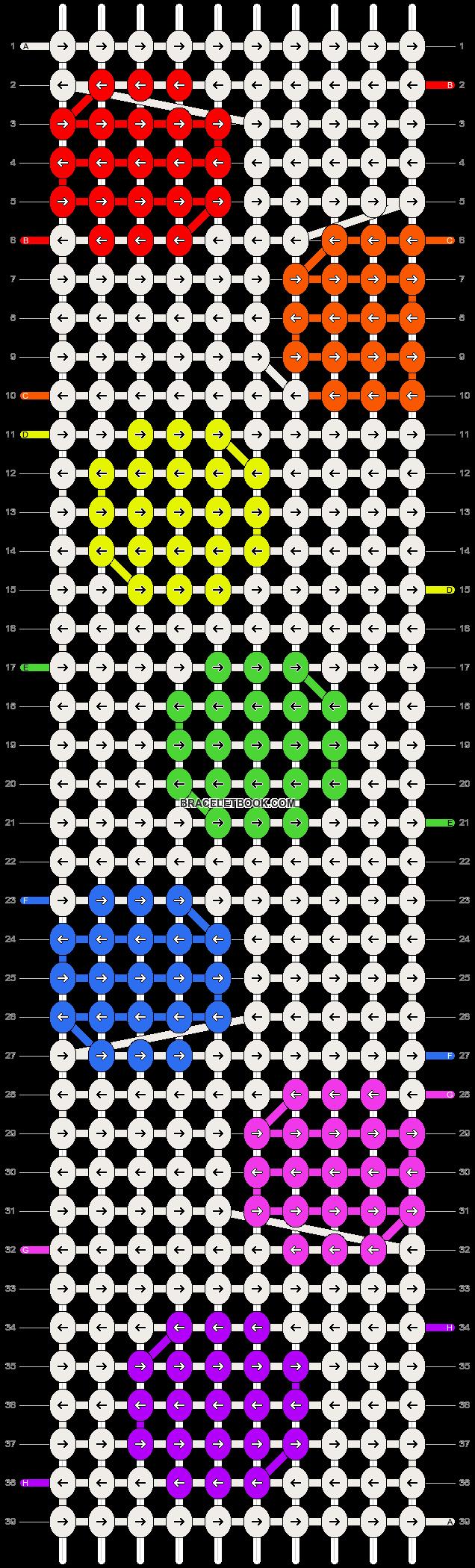 Alpha pattern #8138 pattern