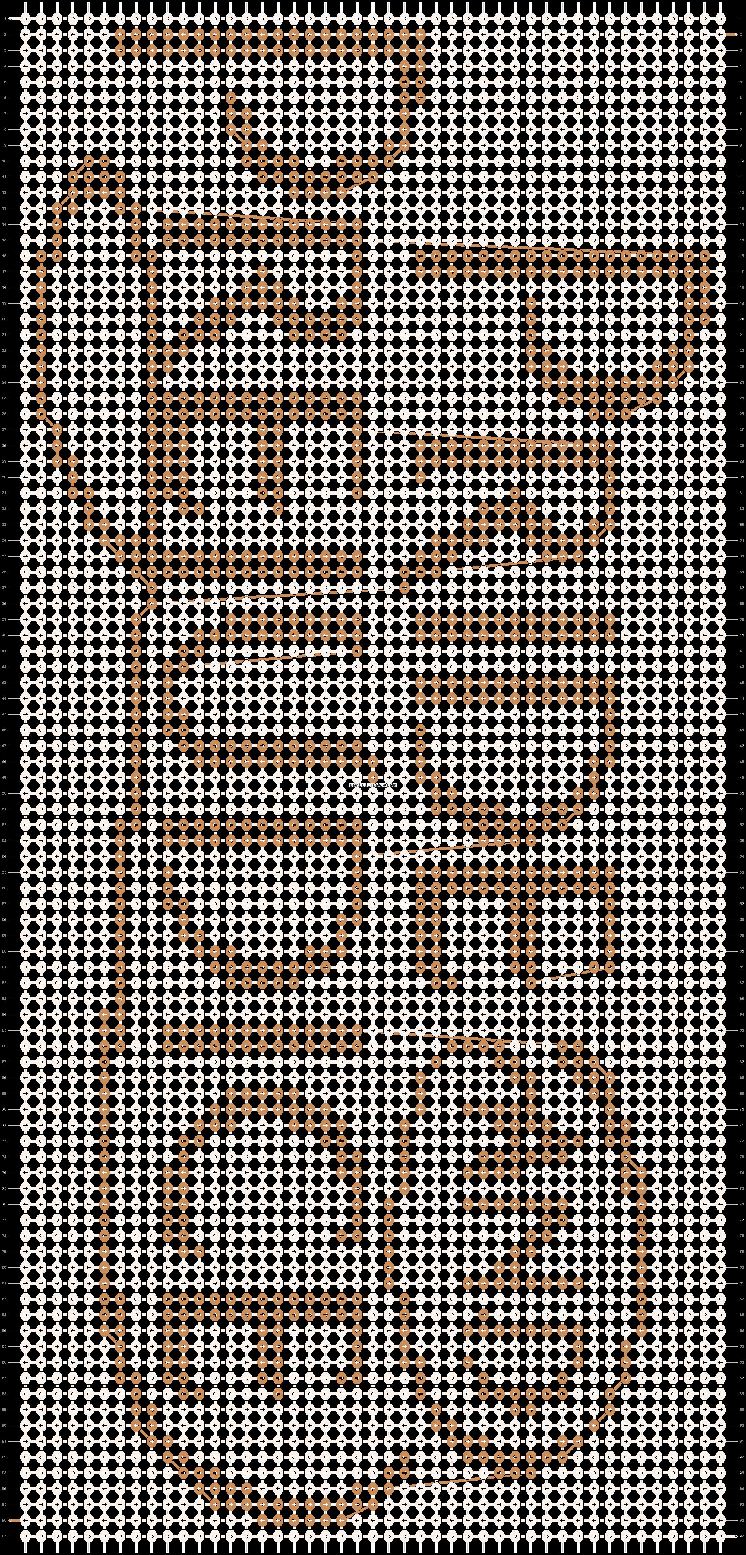 Alpha pattern #8150 pattern