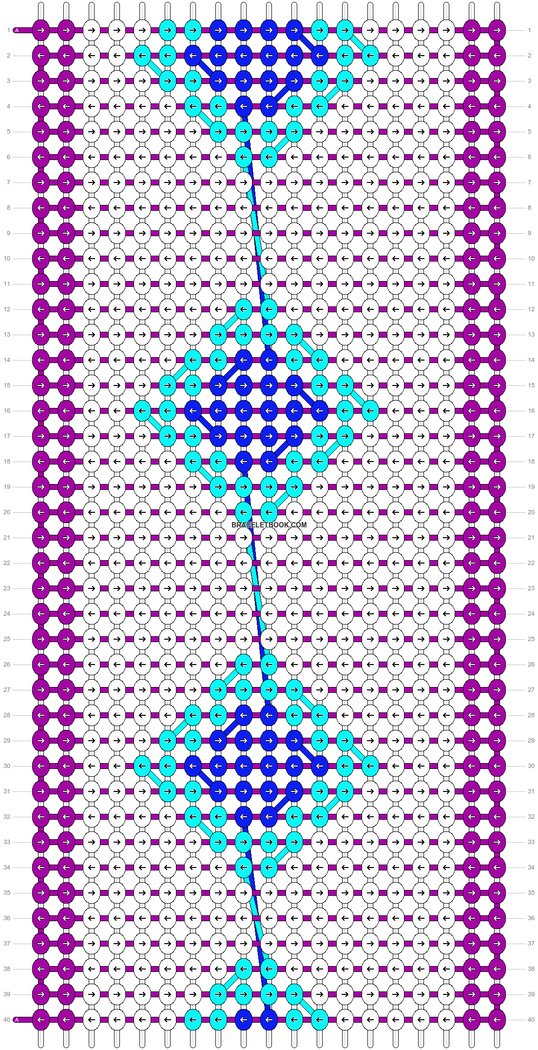 Alpha pattern #8207 pattern