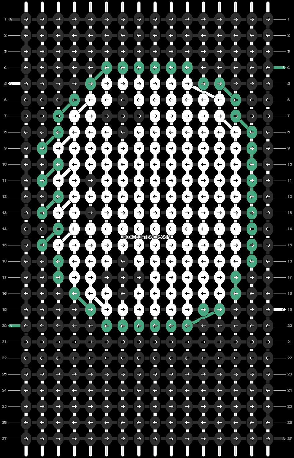 Alpha pattern #8208 pattern