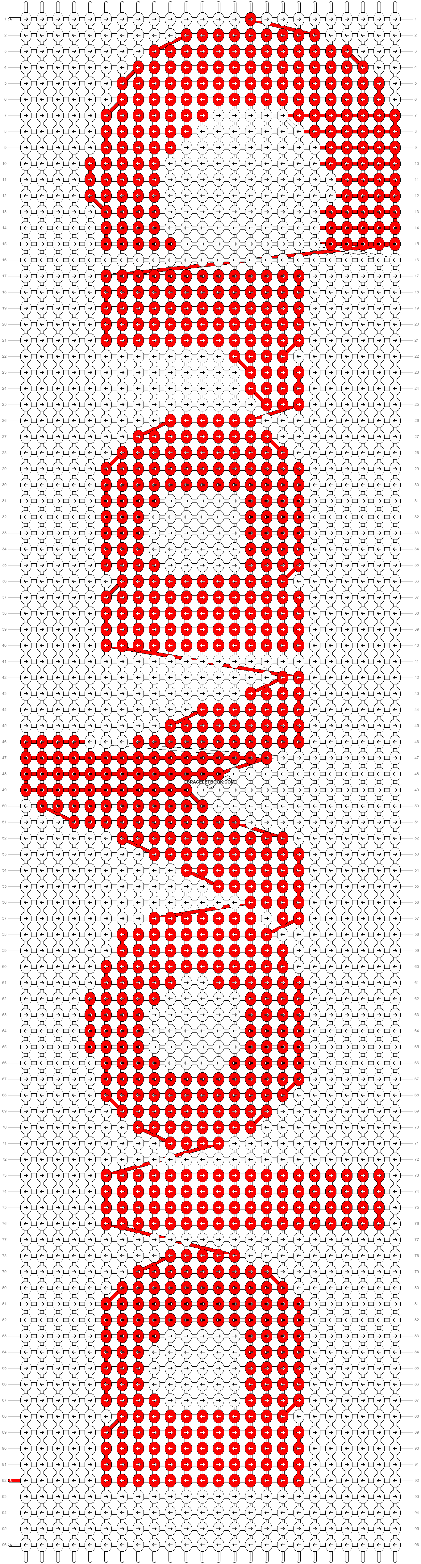 Alpha pattern #8218 pattern
