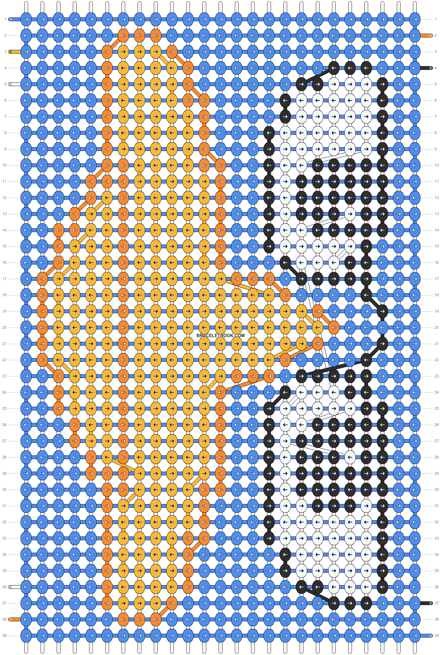 Alpha pattern #8240 pattern