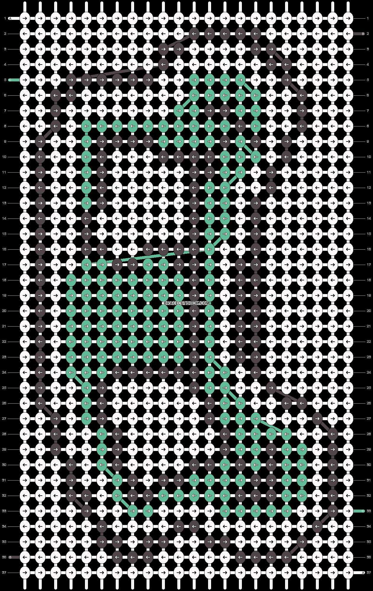Alpha pattern #8254 pattern