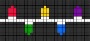 Alpha Friendship Bracelet Pattern #8349