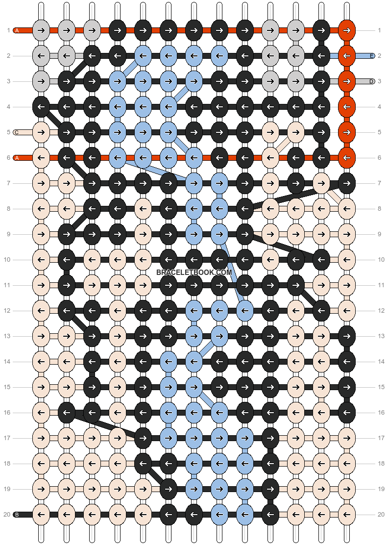 Alpha pattern #8360 pattern