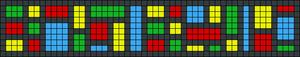 Alpha Friendship Bracelet Pattern #8366
