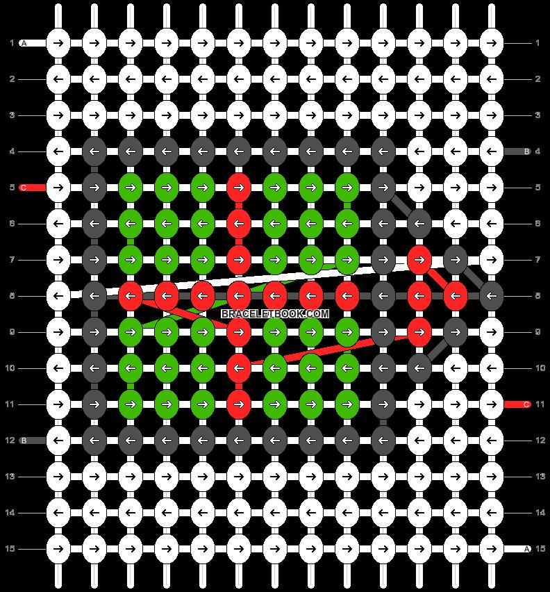 Alpha pattern #8412 pattern